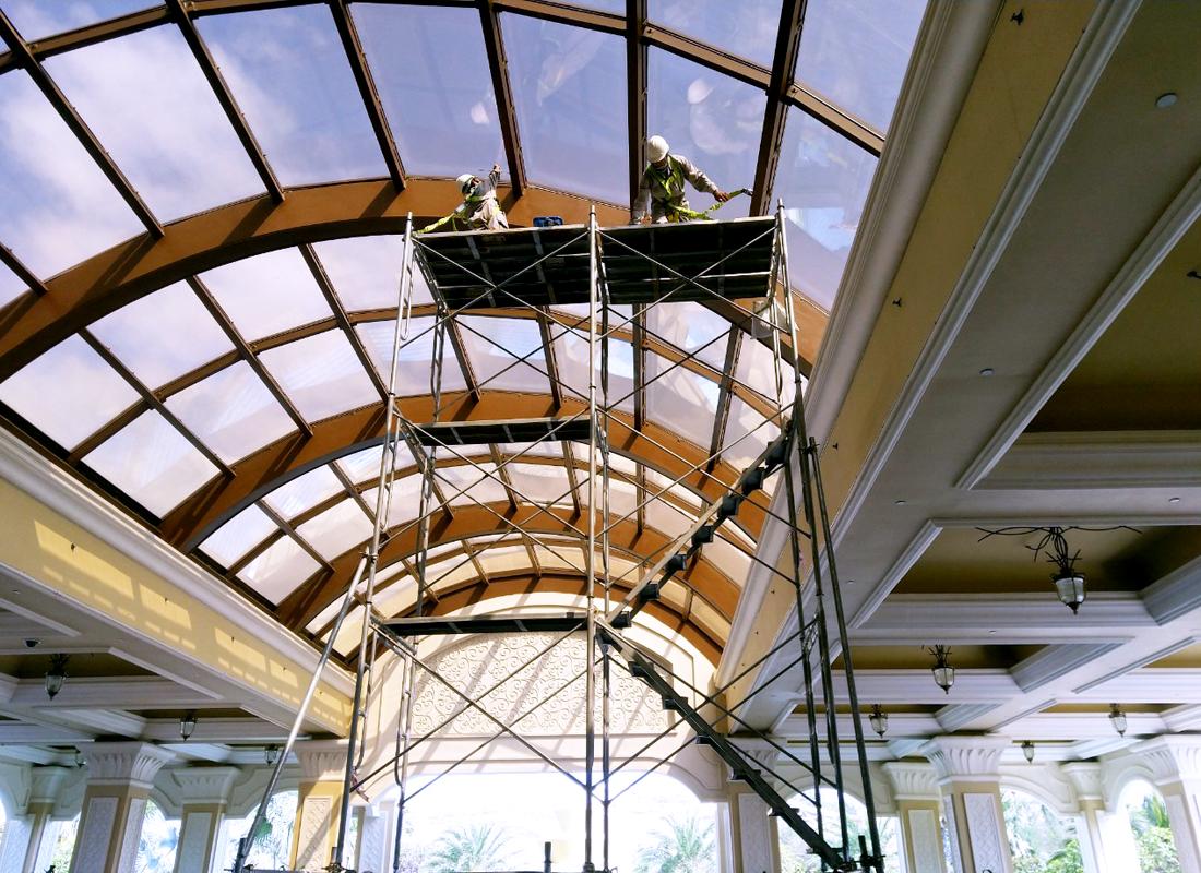 Phương pháp vệ sinh tường, trần nhà và ven gió